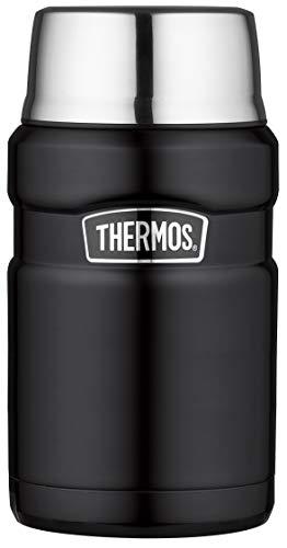 THERMOS Thermobehälter für Essen groß Lunchpot Stainless King, Thermogefäß Edelstahl schwarz...