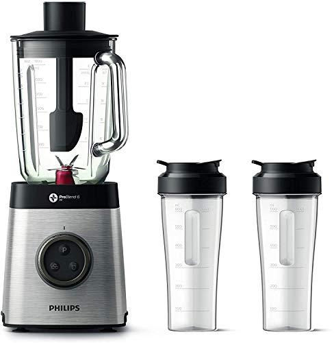 Philips HR3655/00 Standmixer (1400 Watt, ProBlend 6 3D Technologie, 2 Liter Glasbehälter, 2x...