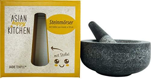 JADE TEMPLE Steinmörser mit Stößel im Set, effektives und einfaches mörsern, aus massivem Granit...