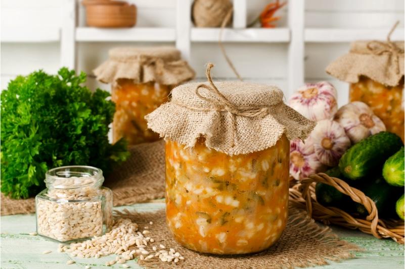 Suppe im Glas transportieren