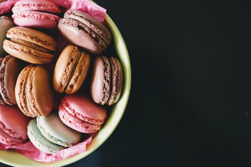 Macarons aus festem Eischnee