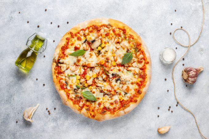 Selbstgemachte Pizza einfrieren