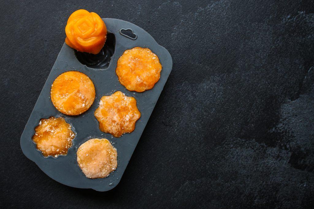 Gefrorenes Süßkartoffel Püree