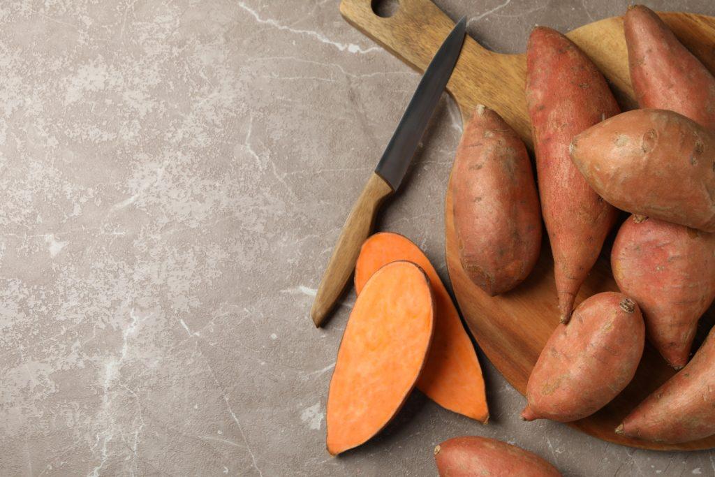 gefrorene Süßkartoffeln auftauen