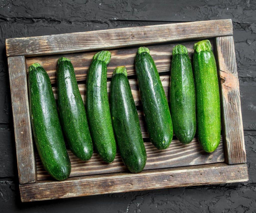 Zucchini lagern für Haltbarkeit